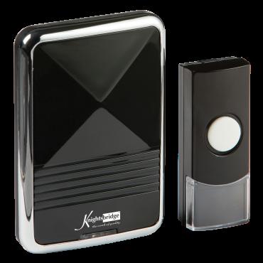 Knightsbridge DC002 Wireless Plug In Door Chime - Black (80M Range)