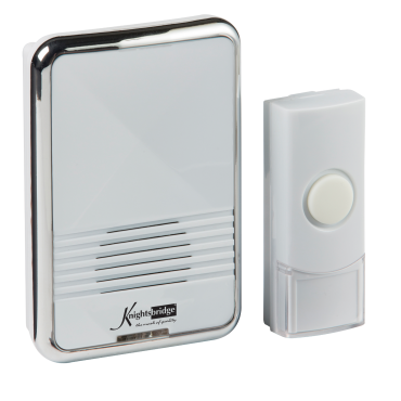 Knightsbridge DC003 Wireless Plug In Door Chime - White (80M Range)
