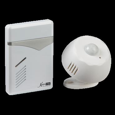 Knightsbridge DC006 Wireless Pir Door Chime  - White (100M Range)