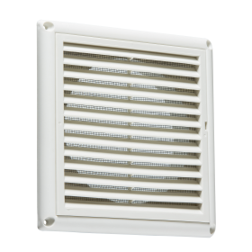"Knightsbridge EX0010W 150mm/6"" Extractor Fan Grille With Fly Screen - White"