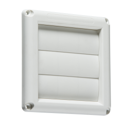 "Knightsbridge EX007W 100mm/4"" Gravity Shutter - White"