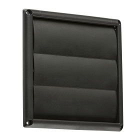 "Knightsbridge EX008B 150mm/6"" Gravity Shutter - Black"