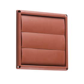 "Knightsbridge EX008T 150mm/6"" Gravity Shutter - Terracotta"