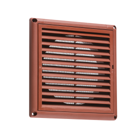 "Knightsbridge EX009T 100mm/4"" Extractor Fan Grille With Fly Screen - Terracotta"