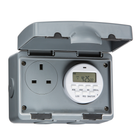 Knightsbridge IP7000D IP66 13A 7 Day Digital Timer Socket