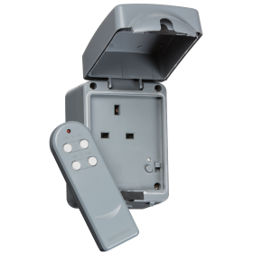 Knightsbridge IP7000R IP66 13A 1G Remote Controlled Socket