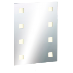 Knightsbridge RCT6045SD IP44 Rectangular Mirror With Demister & D.Voltage Shaver Socket 600W X 450H X 45D