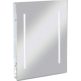 Knightsbridge RCTM2LED IP44 LED Rectangular Mirror C/W Dual Shaver Socket