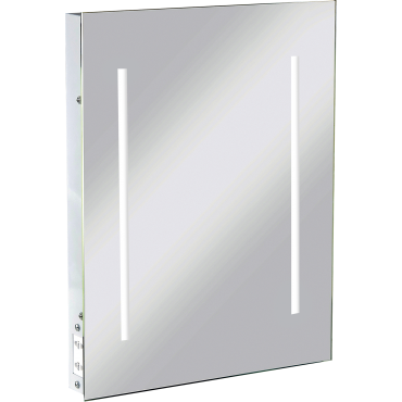 Knightsbridge RCTM2LED IP44 LED Rectangular Mirror C/W Dual Shaver Socket