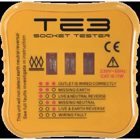 Knightsbridge TE3 BS1363 Socket Tester