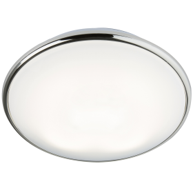 Knightsbridge Ip20 28W 2D Bulkhead Opal Diffuser & Chrome Base - HF Emergency