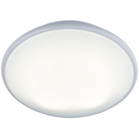 Knightsbridge Ip20 28W 2D Bulkhead Opal Diffuser & White Base - HF Emergency