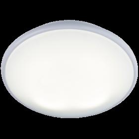 Knightsbridge Ip20 38W 2D Bulkhead Opal Diffuser & White Base - HF