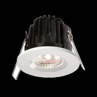 Knightsbridge VFRCOBCW IP65 7W LED 4000K Cool White Downlight C/W White Bezel