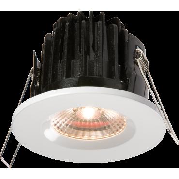 Knightsbridge VFRCOBWW IP65 7W LED 3000K Warm White Downlight C/W White Bezel