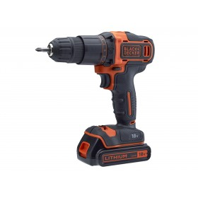 Black & Decker Combi Drill 18V 2 x 1.5Ah Li-ion with 120 Piece Accessory Set - XMS19BD18VD