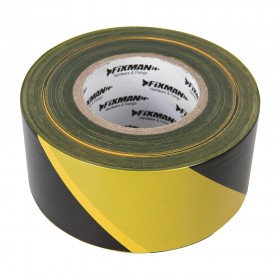 FIXMAN Barrier Tape 70mm x 500m Yellow/Black - 535350