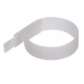 FIXMAN Hook & Loop Cable Ties 10pk 150mm White - 849309