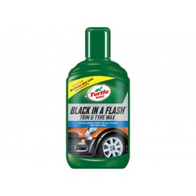 Turtle Wax Black in a Flash Trim & Tyre Wax 300ml