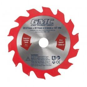 GMC Portable Wood Flooring Saw Blade Blade 127 x 17 x 2.2mm 14T