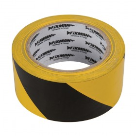 Fixman Hazard Tape 50mm x 33m Black/Yellow