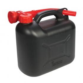 Silverline Plastic Fuel Can 5Ltr Black