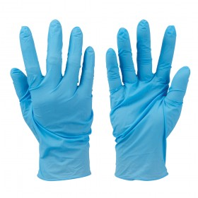 Silverline Disposable Nitrile Gloves Powder-Free 100pk Blue Large