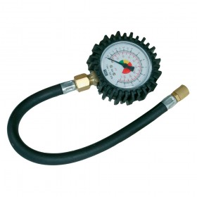 Silverline Tyre Dial Gauge 0 - 100psi (0 - 10bar)
