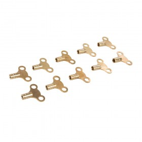 Dickie Dyer Brass Clock-Type Radiator Bleed Keys 10pk - 11.042