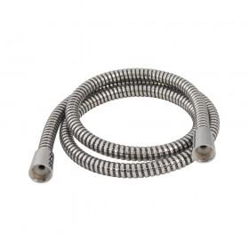 Plumbob Black / Silver Corrugated PVC Shower Hose 1.5m - 418144