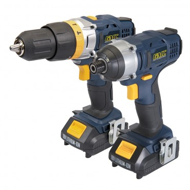 GMC 18V Combi Drill & Impact Driver Twin Pack GTPCDID18