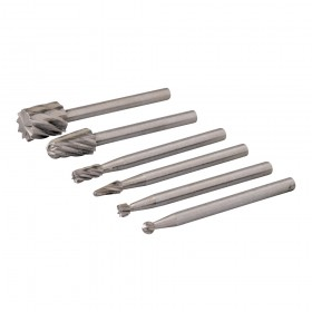 Silverline Rotary Tool HSS Burr Set 6pce 2, 3, 5, 7mm Dia