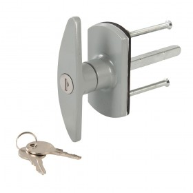 Silverline Garage Door Locking Handle 75mm Square - 471742