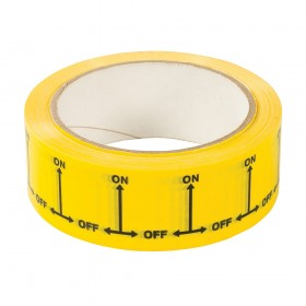 Dickie Dyer 'ON/OFF' Identification Tape 38mm x 33m - 90.712