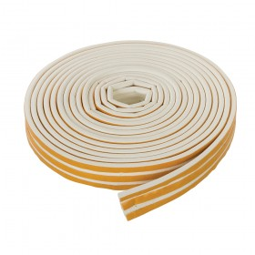 Fixman Self-Adhesive P-Profile Weather Strip 3 - 5mm / 15m White