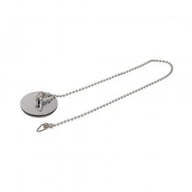 """Plumbob Chrome-Plated Basin Plug & Chain 1-1/2"""" - 541288"""