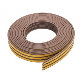 Fixman Self-Adhesive P-Profile Weather Strip 3 - 5mm / 15m Brown