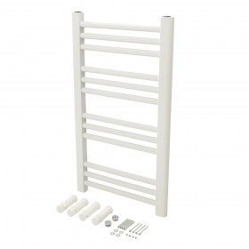 Plumbob White Flat Towel Radiator 700 x 400mm - 563951