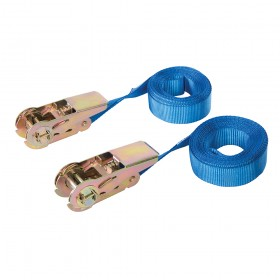 Silverline Endless Ratchet Tie-Down Strap 2pk Rated 250kg Capacity 500kg