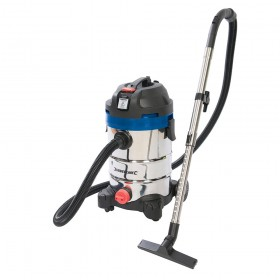 Silverline Silverstorm 1250W Wet & Dry Vacuum Cleaner 30Ltr - 575803