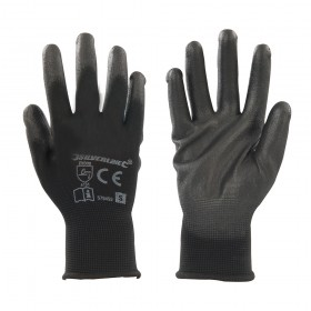 Silverline Black Palm Gloves Small