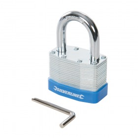 Silverline Laminated Steel Combination Padlock 50mm - 585571