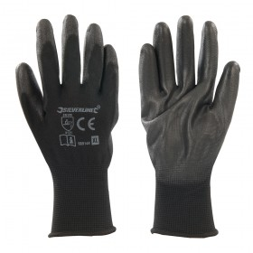Silverline Black Palm Gloves X-Large