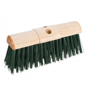 "Silverline Broom PVC Saddleback Raised Centre 330mm (13"")"