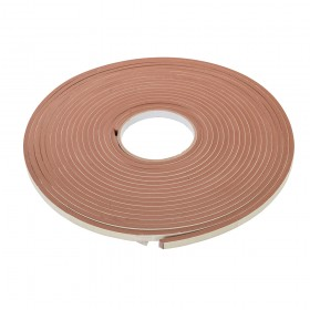 Fixman Self-Adhesive E-Profile Weather Strip 3-5mm / 15m Brown
