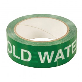 Dickie Dyer 'COLD WATER' Identification Tape 38mm x 33m - 90.717