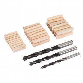 Silverline Dowel & Bit Set 47pce 6, 8 & 10mm