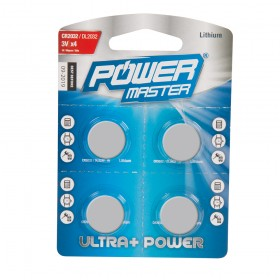 Powermaster Lithium Button Cell CR2032 4pk - 675789