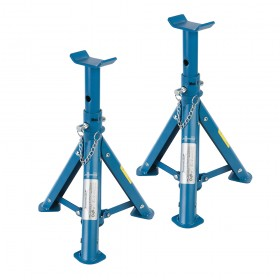 Silverline Folding Axle Stand Set 2pce 2 Tonne - 676260