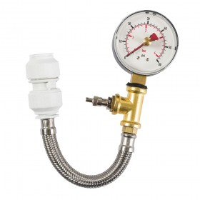 Dickie Dyer Dry Pipe Test Gauge with Flexible Hose 0-4bar - 40.2